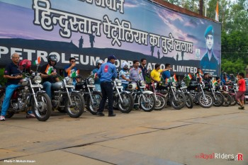Royal Enfield Riders of Agra Shaheed Sunil Kumar Yadav Filling Station, Amar Ujala