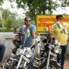 Saby with his Bike  along with other riders.