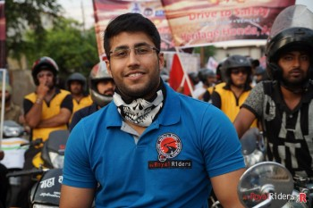 Siddhartha Sehgal from weRR participated in Road Safety Awareness Ride.