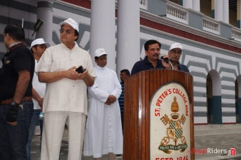 Vikram Shukla speaking on Road Safety Awareness