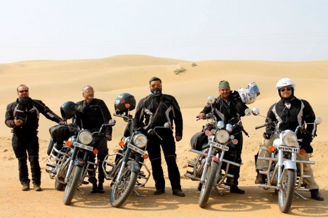 Group photo at the first Sand Dune