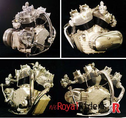 Early Prototype V-Twin Carberry Double Barrel Engine for Royal Enfield Bike.