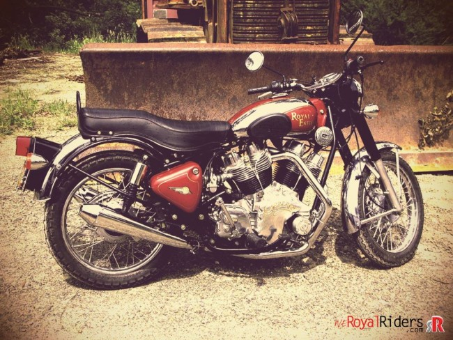 Carberry V-twin in Royal Enfield Motorcycle.