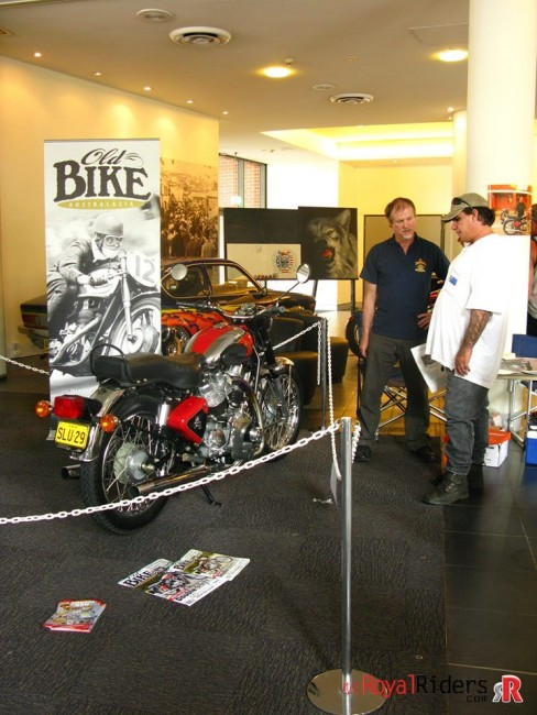 Carberry Enfield at Sydney motorcycle exhibition 2009