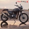 The new Shiny Royal Enfield Himalayan Motorcycle.