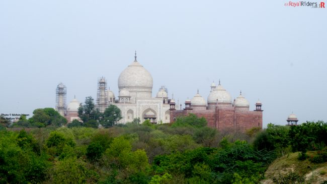Taj Mahal picture taken from Taj Nature Walk.