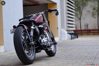 Bold and impressive Royal Enfield based Bobber.