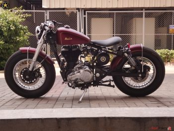 A nice bobber from India by Bulleteer Customs.