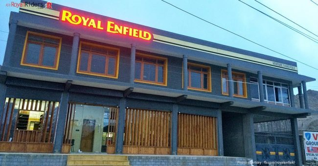 Official RE Service Station at Leh-Manali Highway.