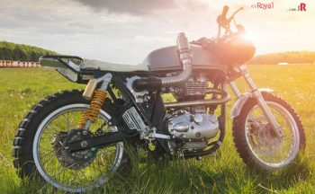 Dirty Duck - dragster inspired custom Royal Enfield