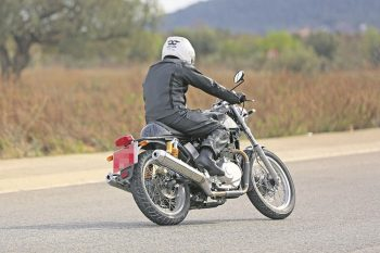 Twin Muffler on Continental GT test mule
