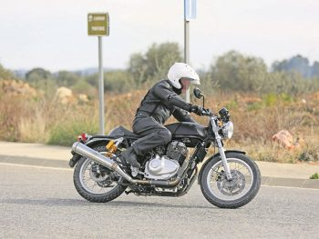 Royal Enfield testing new engine on Continental GT Chassis.