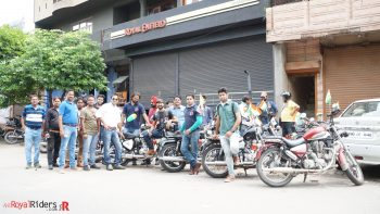 Ridres at Royal Enfield Showroom - Baluganj.