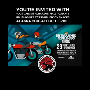 Official Agra Distinguished Gentleman's Ride (2019 29thSept) – India